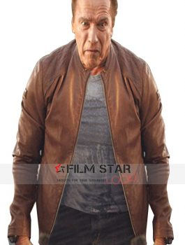 Arnold Schwarzenegger Brown Advertisement Leather Jacket