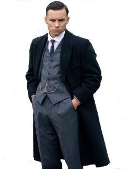 Finn Cole Trench Wool Coat, Men Coat