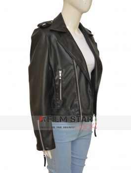 Black Megan Fox TMNT 2 Leather Jacket