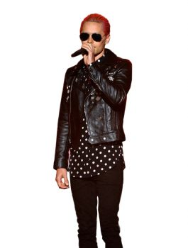 Jared Leto MTV VMA Black Leather Jacket