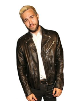 Pete Wentz Black Biker MTV VMA Jacket