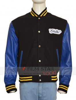 Jay Hernandez Suicide Squad Letterman Light Blue Jacket