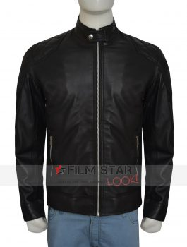 WWE Wrestler Dean Ambrose Black Leather Jacket