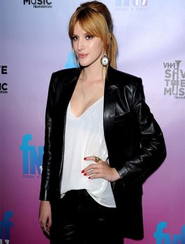 Pre-Grammy Party Bella Thorne Coat Jacket