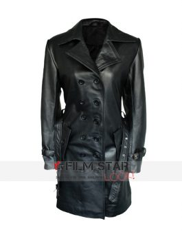 Lauren Pope Leather Coat Jacket