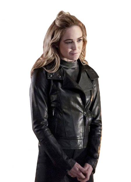 Caity Lotz Black Leather Jacket