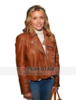 Caggie Dunlop Tan Leather Jacket