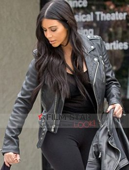 Kim Kardashian Married Leather Jacket