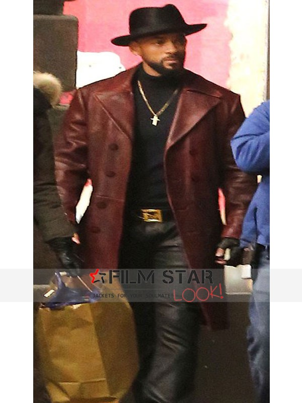 Will Smith Suicide Squad Leather Coat