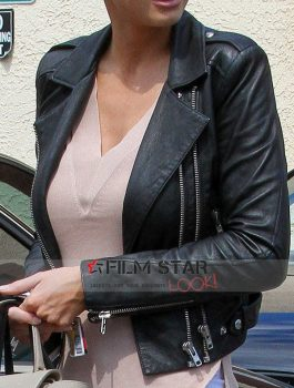 American Model Charlotte McKinney Black Jacket (2)