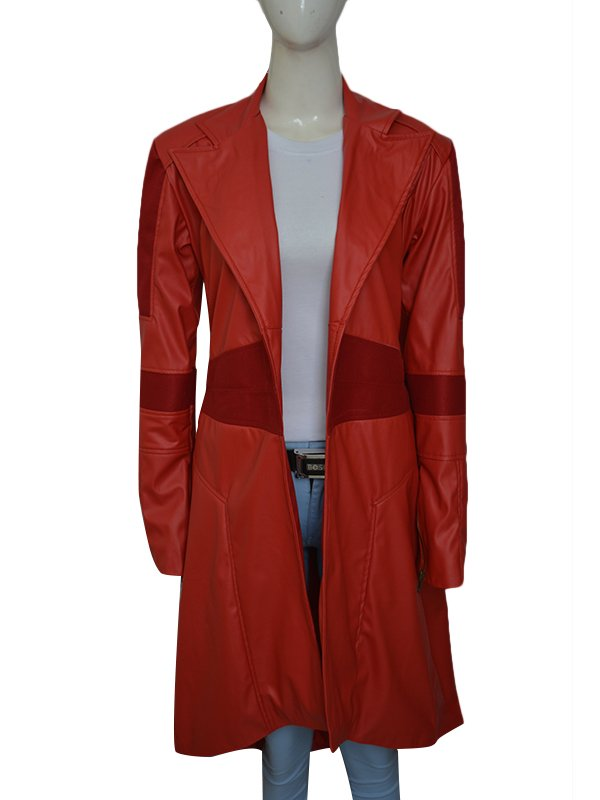 Captain America Cosplay Coat, Scarlet Witch Coat
