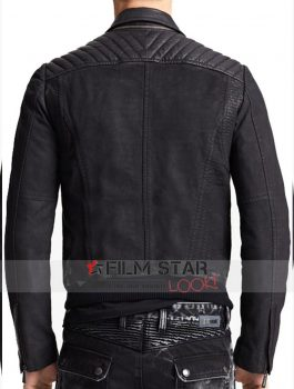 Waist Pocket Black Slim fit Jacket