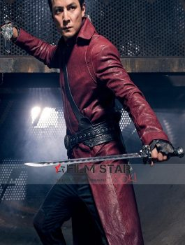 Daniel Wu as Sunny Badlands Red leather Coat