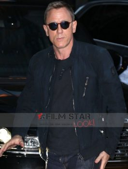 Daniel Craig James Bond Stylish Suede leather Jacket