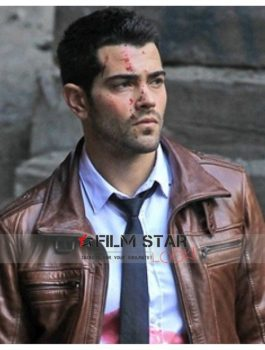 Dead Rising Watchtower Jesse Metcalfe Brown Leather Jacket