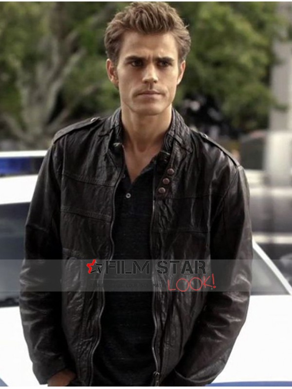 Stefan Salvatore Black Leather Jacket
