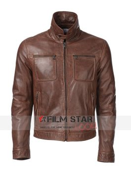 ARROW SEASON 4 JOHN DIGGLE BROWN LEATHER JACKET