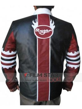 WWE Black and Red Leather Jacket