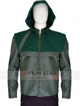 Stephen Arrow Green Hooded Jacket