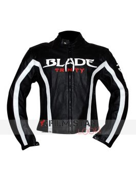 Blade Trinity Black Motorcycle Leather Jacket