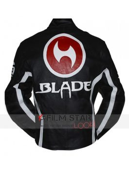 Blade Trinity Black biker Leather Jacket
