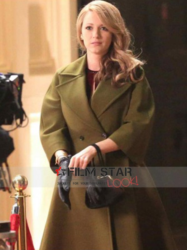 Blake Lively The Age of Adaline Green Coat