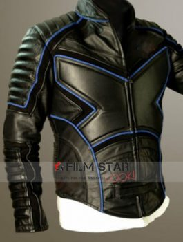 X Men Black Motorcycle Leather Jacket