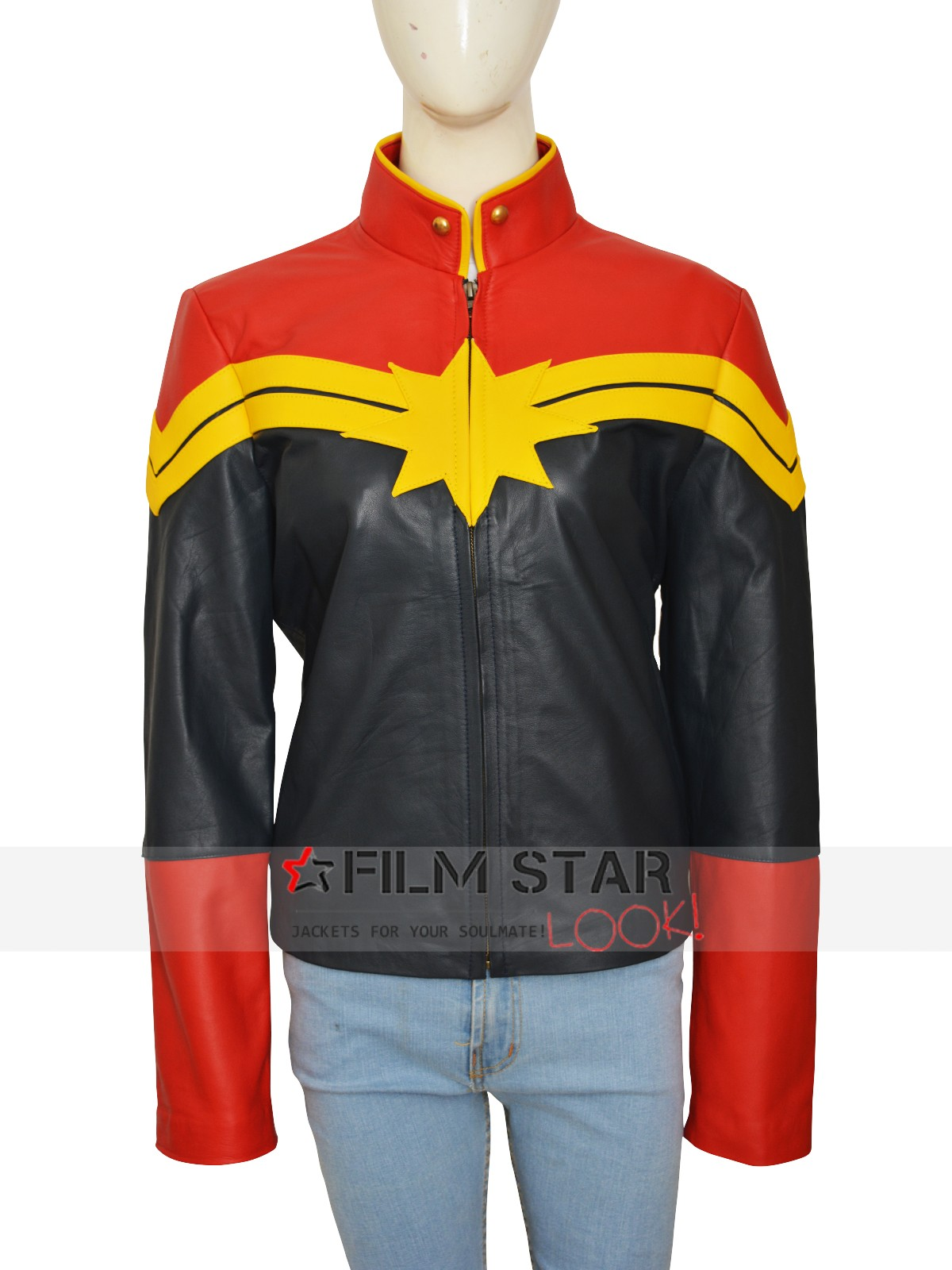Captain Marvel Carol Danvers Leather Jacket