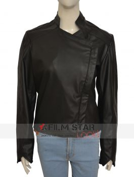 Jessica Lucas Gotham Tabitha Galavan synthetic Leather Jacket