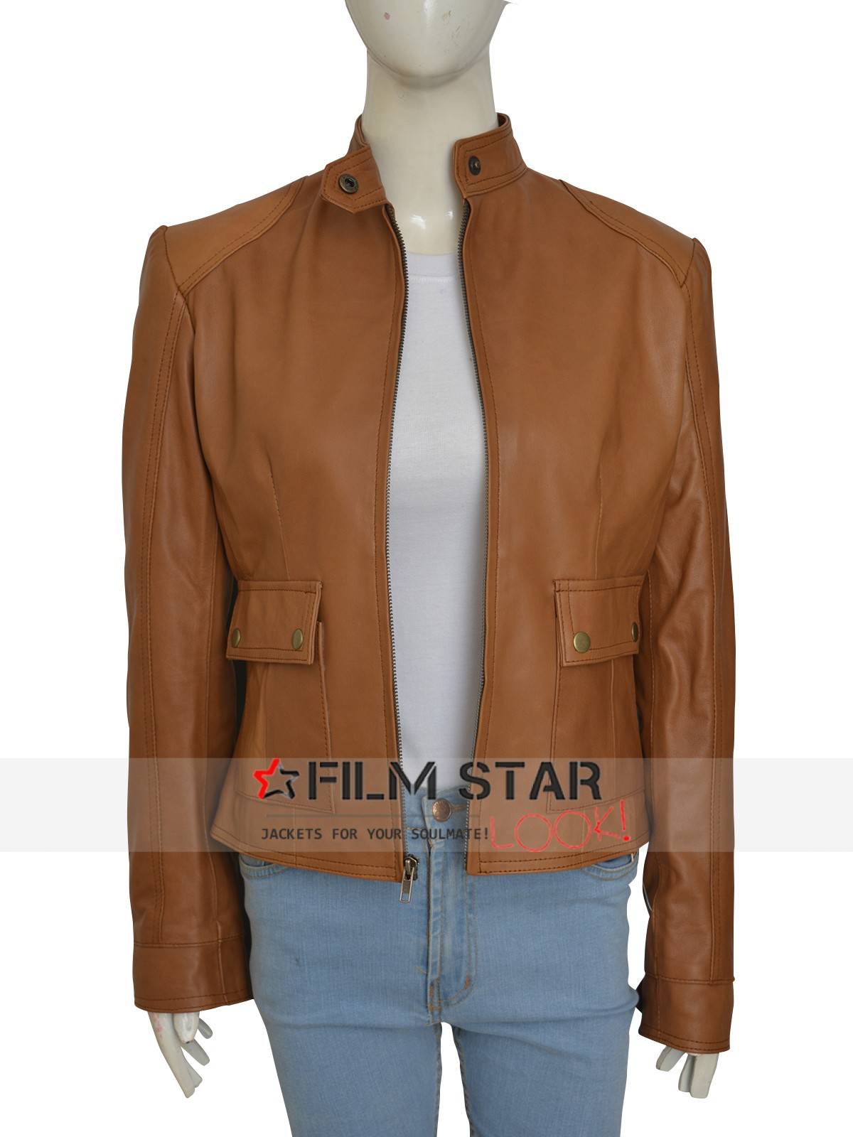 Scarlett Johansson Set Of Avengers Light Brown Exterior Jacket