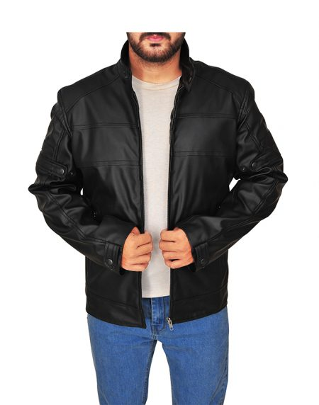 Dashing Stephen Amell Brown Leather Jacket