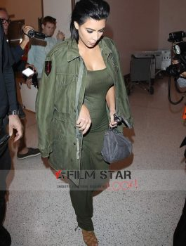 Kim Kardashian Celebrity Green Jacket