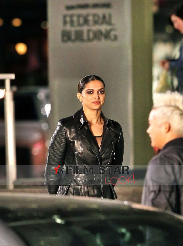 XXX Return of Xander Cage Deepika In Black Leather Jacket