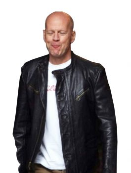 Bruce Willis A Good Day to Die Hard Black Jacket