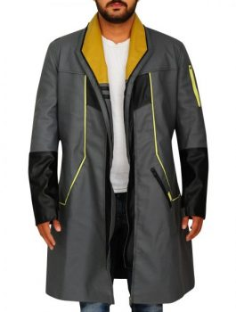 men leather-coat, Detroit Become Human Coat