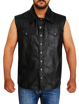 WWE-The-Undertaker-Leather-Vest