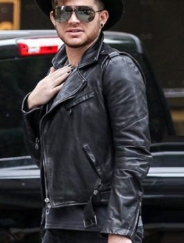 American Singer Adam Lambert Leather Jacket