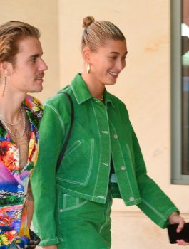 Hailey Rhode Baldwin Green Jacket