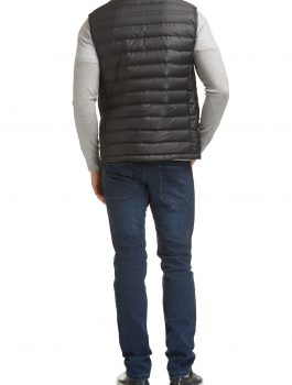 Mens-Black-Quilted-Down-Vest