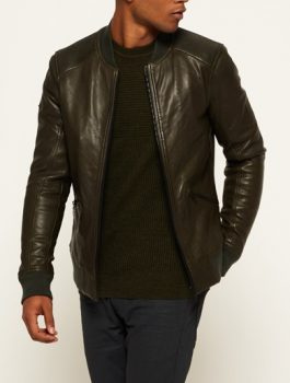 Mens-Premium-Bomber-Brown-Leather-Jacket