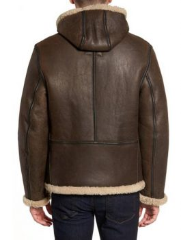 Shearling-Hooded-Brown-Leather-Jacket