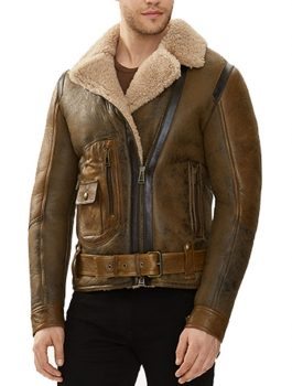 Shearling-Sheepskin-Flying-Leather-Jacket