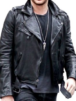 Singer Adam Lambert Leather Jacket