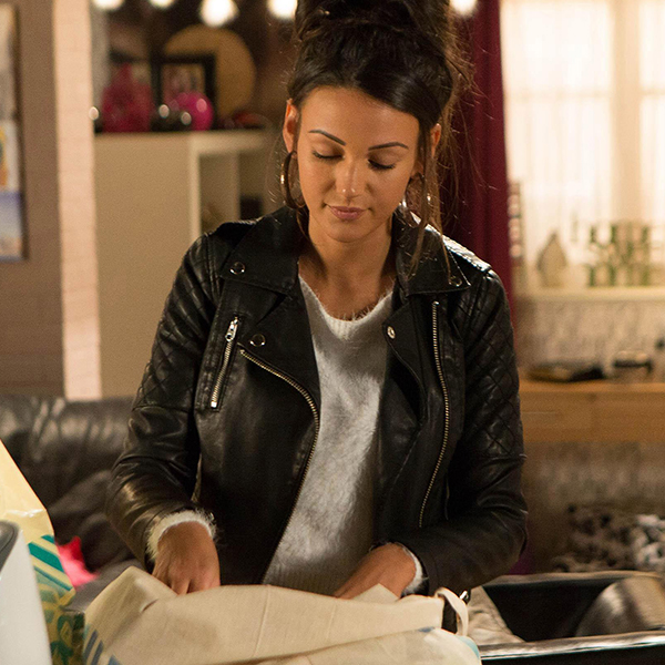 TV Series Coronation Street Michelle Keegan Black Biker Leather Jacket