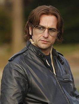 The Americans Actor Matthew Rhys Black Leather Jacket