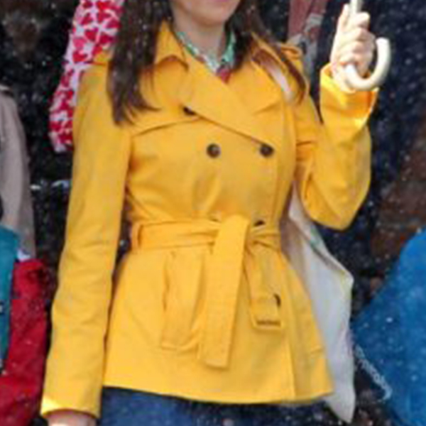 Anna Kendrick A Simple Favor Yellow Cotton Coat
