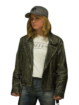 Brie Larson Movie Captain Marvel Leather Jacket