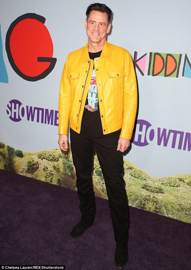 Celebrity-Style-Jim-Carrey-Yellow-Leather-Jacket