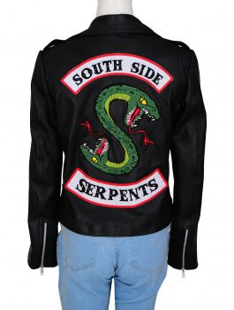 Cheryl-Blossom-Southside-Serpents-Black-Jacket-F-B