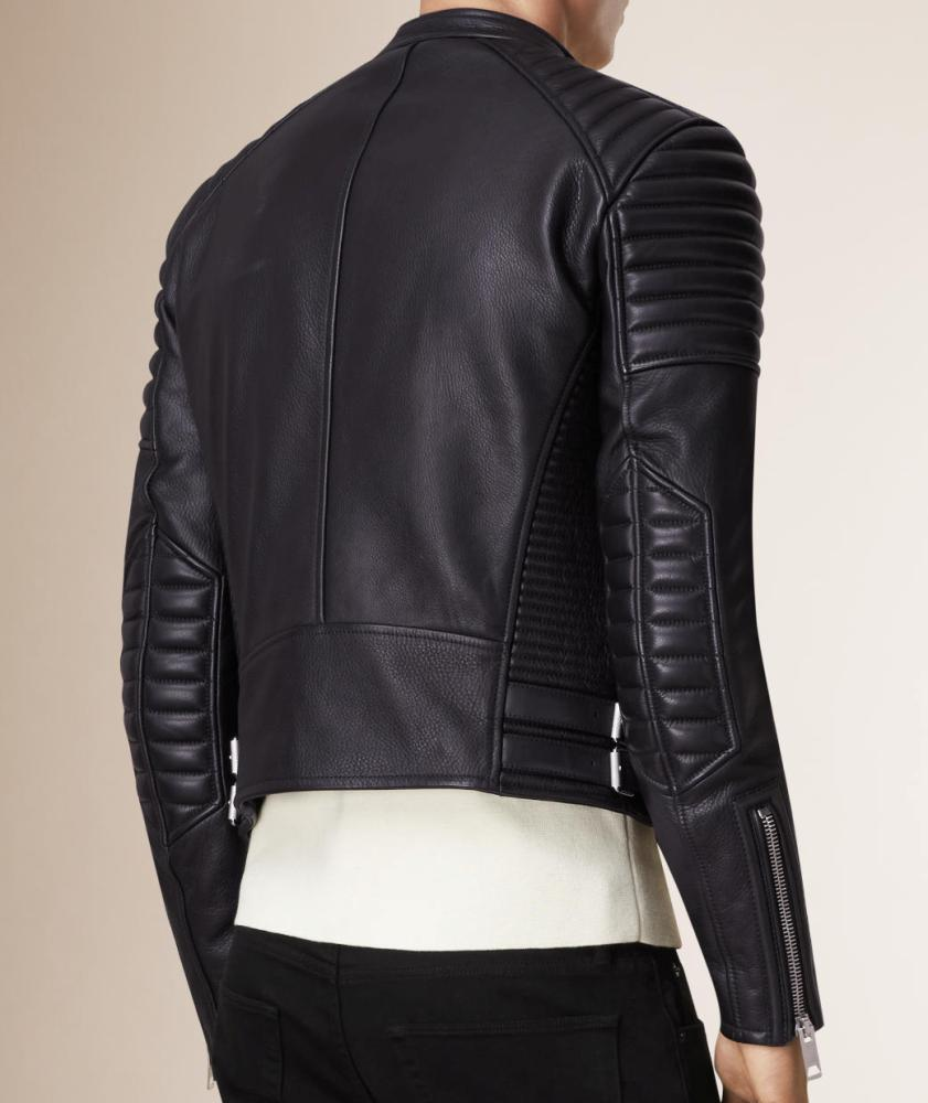 EFilmstarlook ShootPadded Shoulders Asymmetrical Bikers Jacket